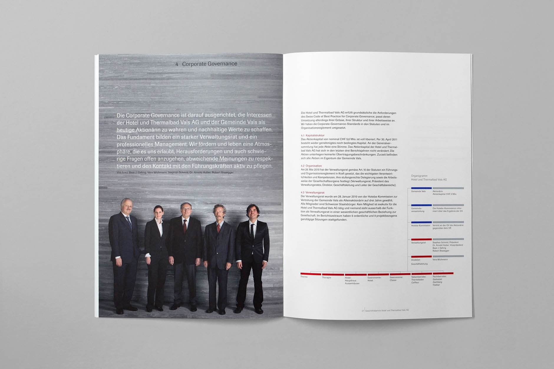 Geschäftsbericht Therme Vals